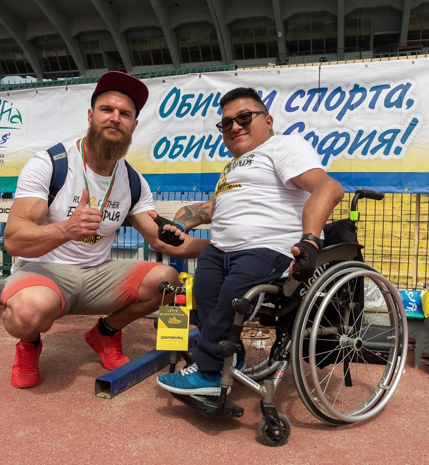 Иван Неделчев и Стефан Виет на run2gether 2019