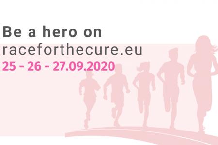 Race for the Cure 2020 3-5 км бягане в подкрепа на жените с рак на гърдата в Европа